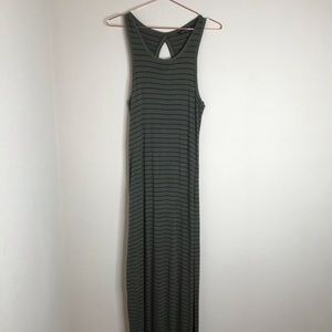 Express black and olive maxi dress